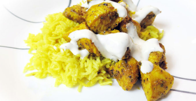 Chicken And Rice With White Sauce Halal Cart Nyc Recipe Spiceganic